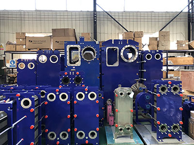 Semi welded plate heat exchanger production and manufacturing