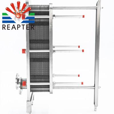 Effect of plate heat exchanger spacing
