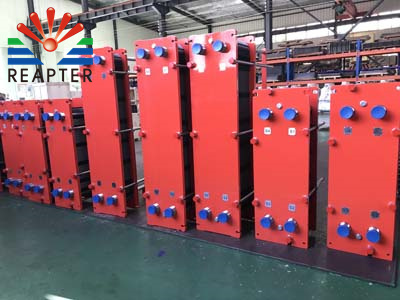 Water source conditions of plate heat exchanger
