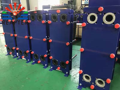 Expansion test of plate heat exchanger