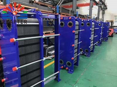 The sequence of plate heat exchanger pressure test