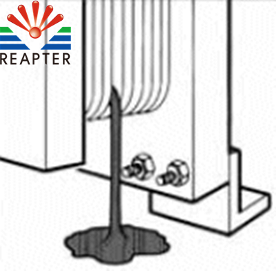Heat exchanger leakage caused by temperature