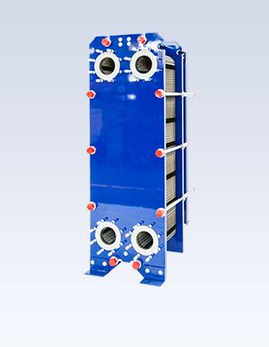 Wide gap plate heat exchanger