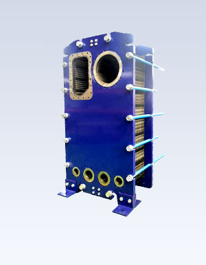 Semi welded plate evaporator